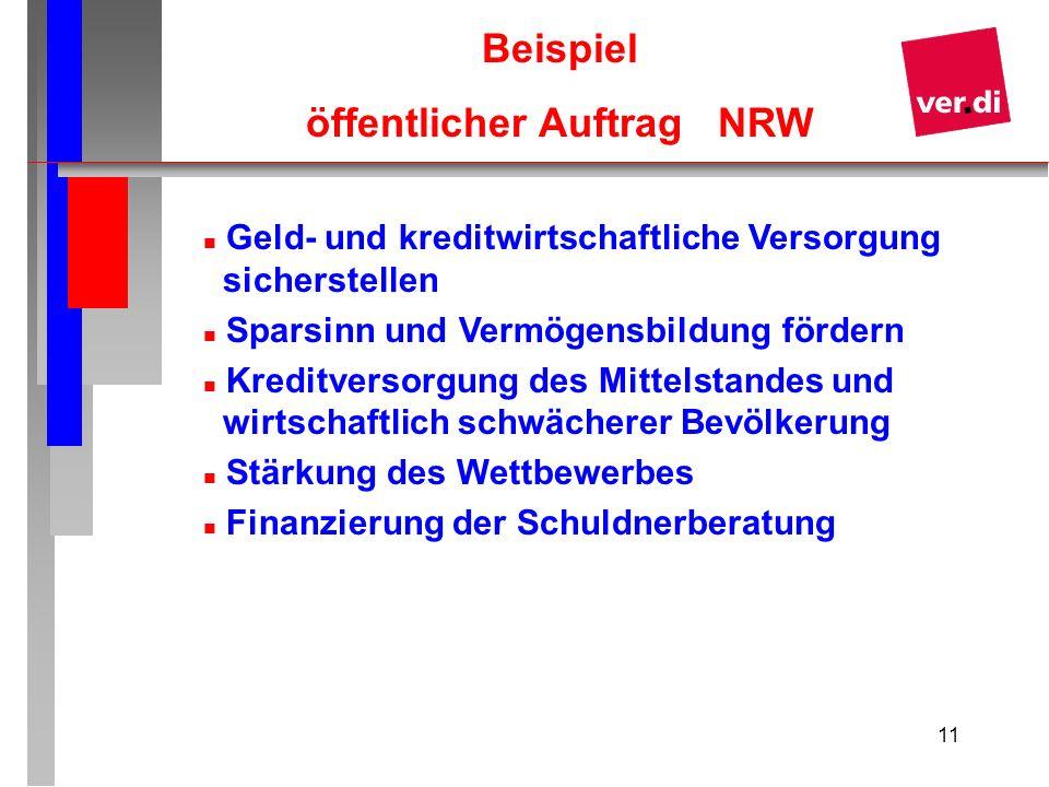 öffentlicher Auftrag NRW