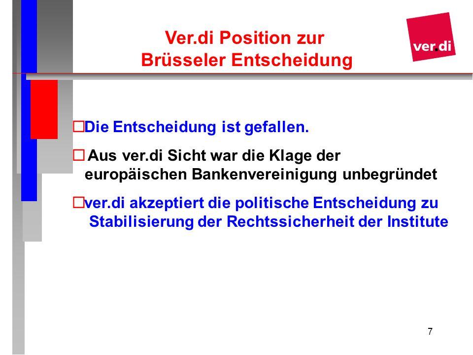 Ver.di Position zur Brüsseler Entscheidung