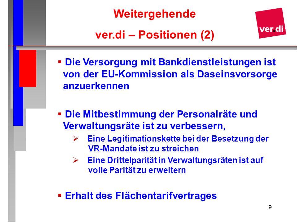 Weitergehende ver.di – Positionen (2)