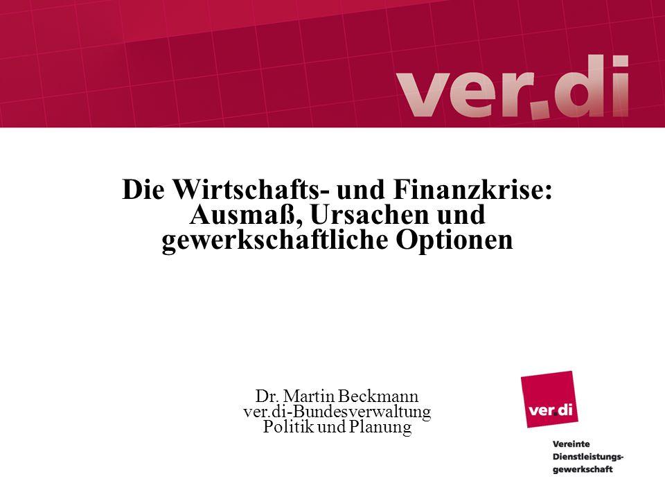 Dr. Martin Beckmann ver.di-Bundesverwaltung Politik und Planung