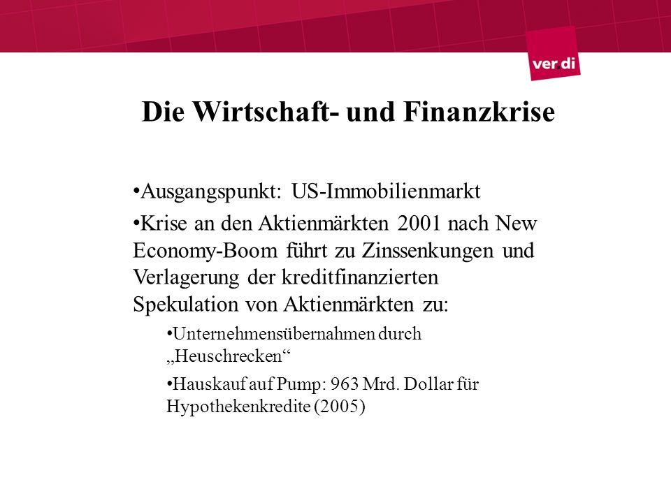 Die Wirtschaft- und Finanzkrise