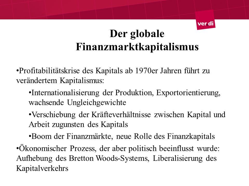 Der globale Finanzmarktkapitalismus
