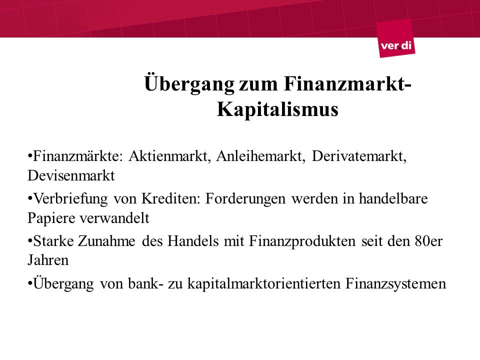 Übergang zum Finanzmarkt-Kapitalismus