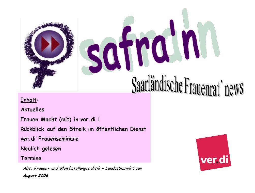 Saarländische Frauenrat´ news
