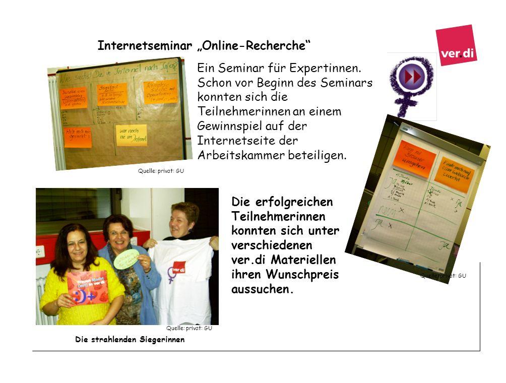 """Internetseminar """"Online-Recherche"""