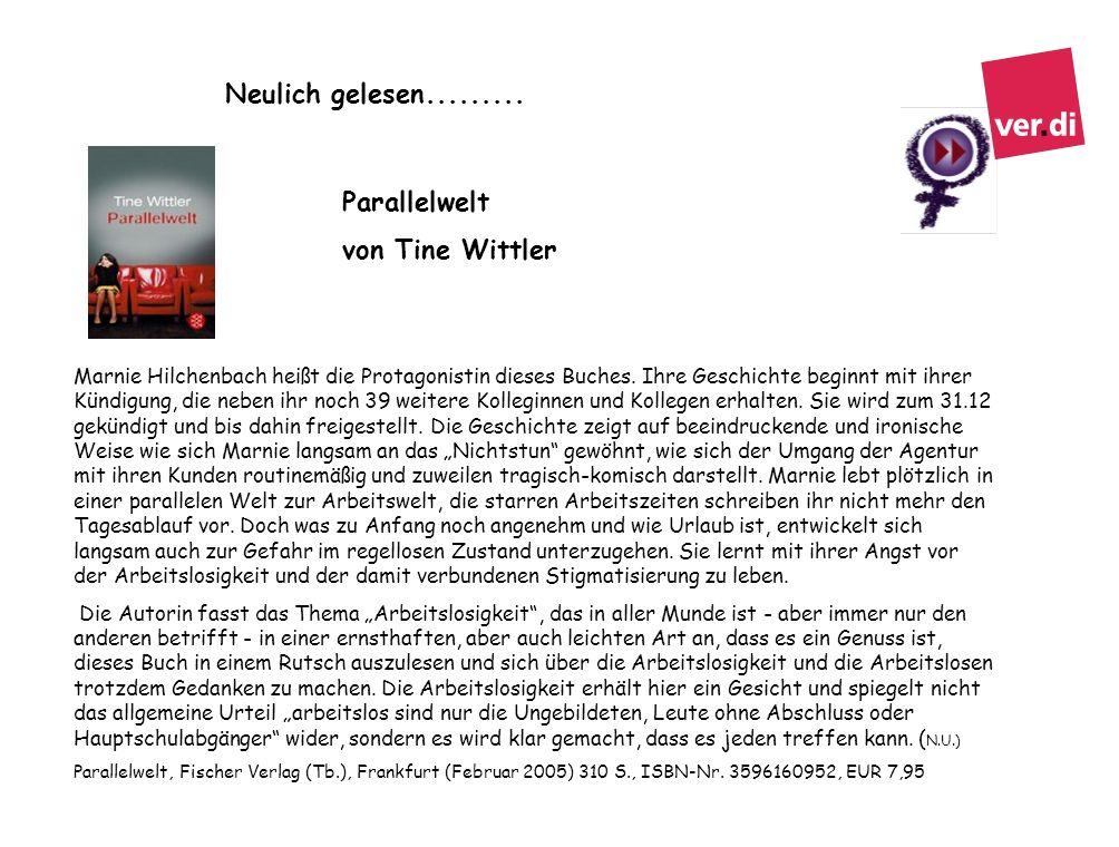 Neulich gelesen......... Parallelwelt von Tine Wittler
