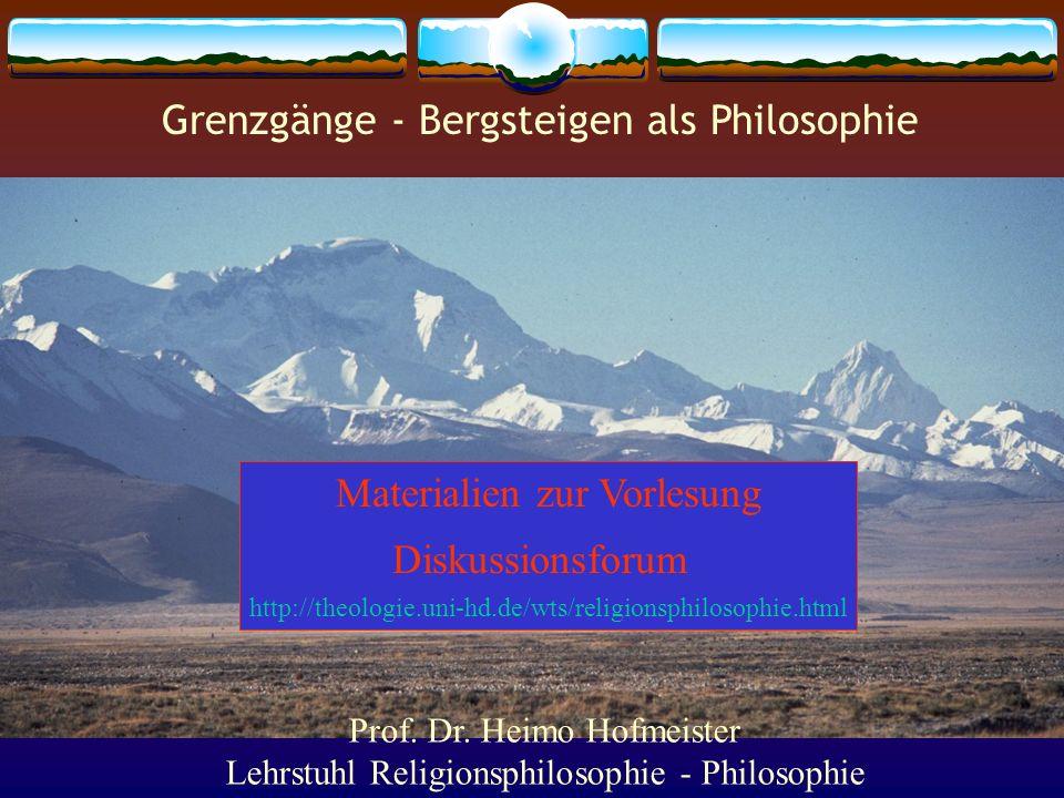 Grenzgänge - Bergsteigen als Philosophie