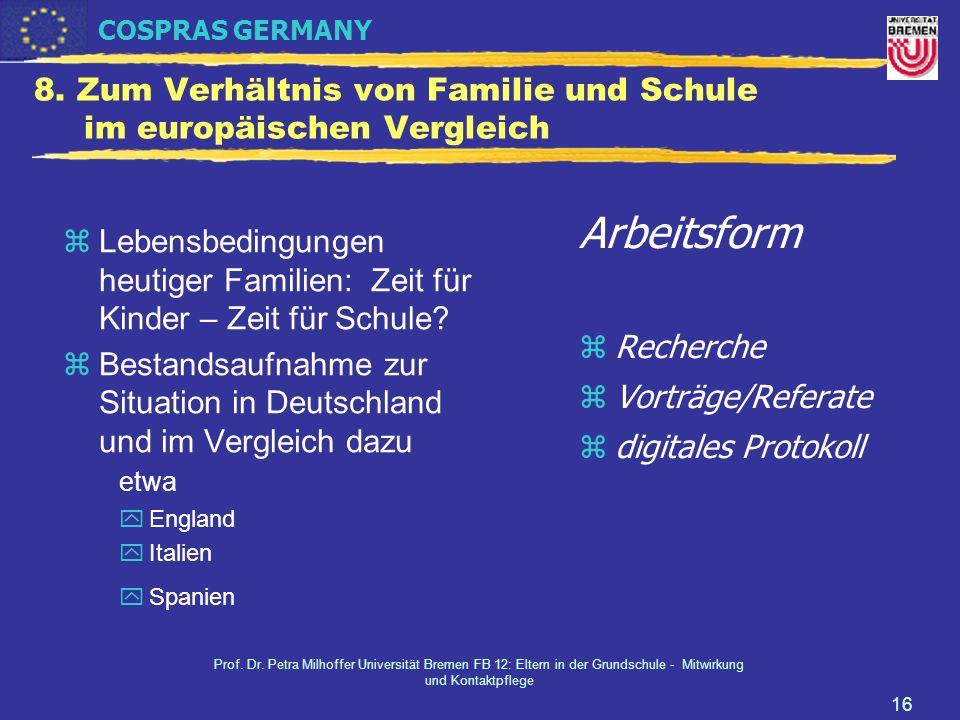 8. Zum Verhältnis von Familie und Schule im europäischen Vergleich