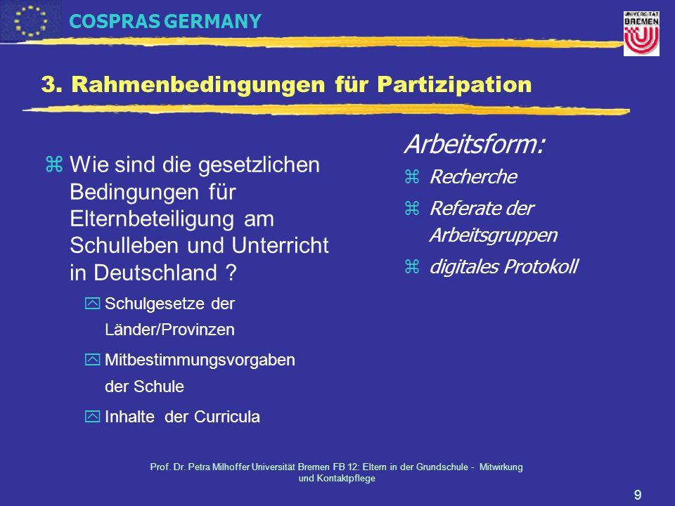 3. Rahmenbedingungen für Partizipation