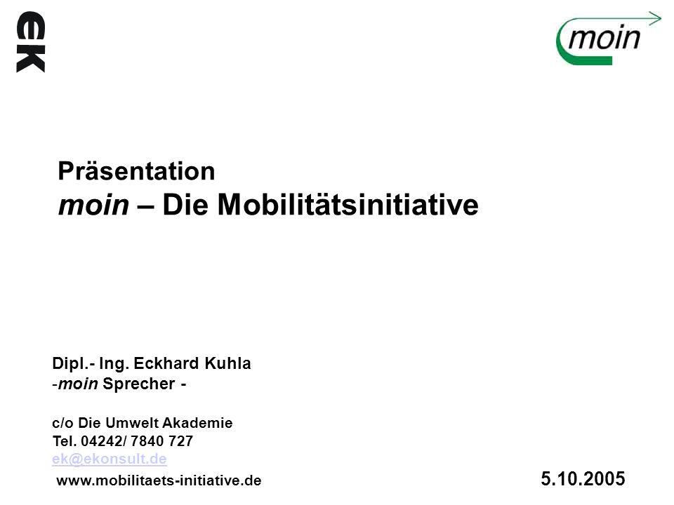 Präsentation moin – Die Mobilitätsinitiative