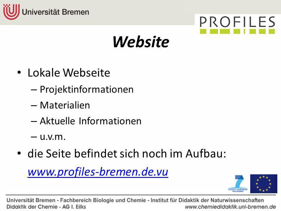 Website Lokale Webseite die Seite befindet sich noch im Aufbau: