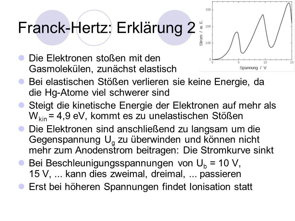 Franck-Hertz: Erklärung 2