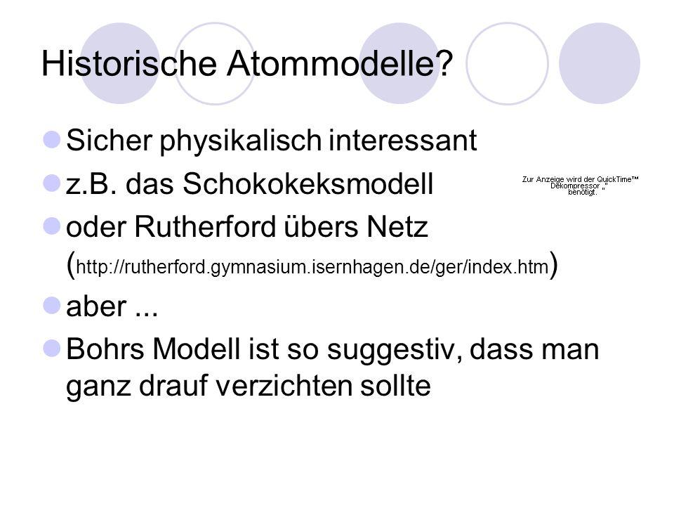 Historische Atommodelle
