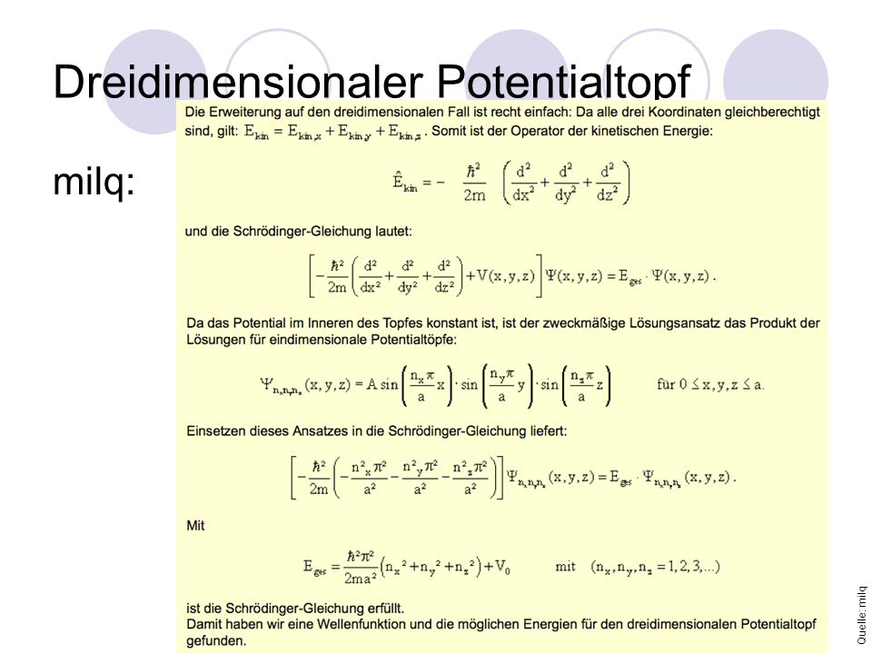 Dreidimensionaler Potentialtopf