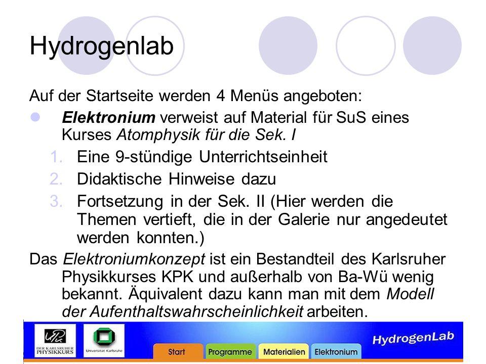 Hydrogenlab Eine 9-stündige Unterrichtseinheit