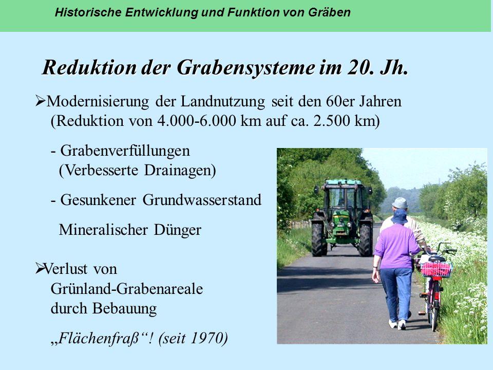 Reduktion der Grabensysteme im 20. Jh.