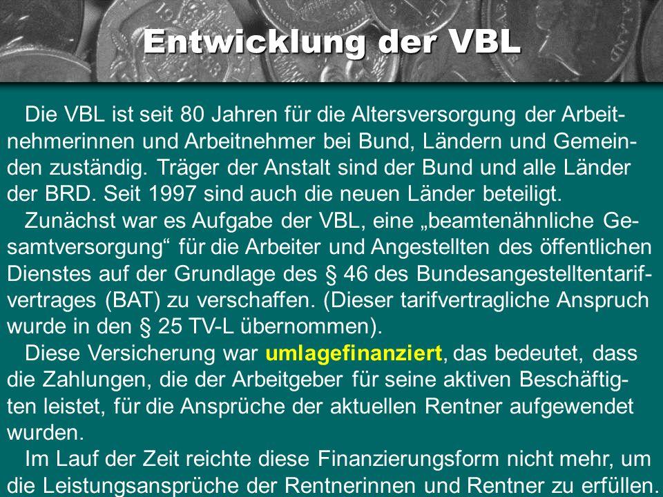 Entwicklung der VBL