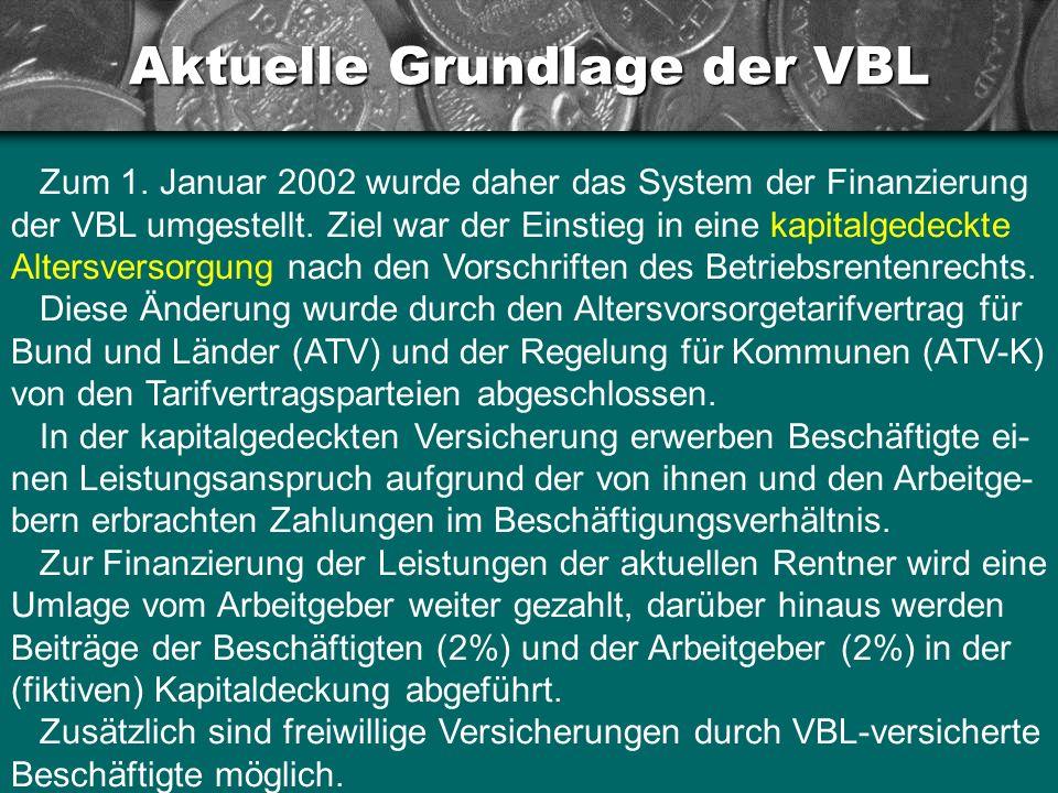 Aktuelle Grundlage der VBL