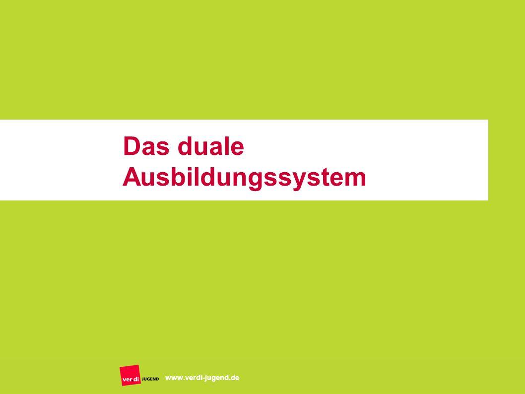 Das duale Ausbildungssystem