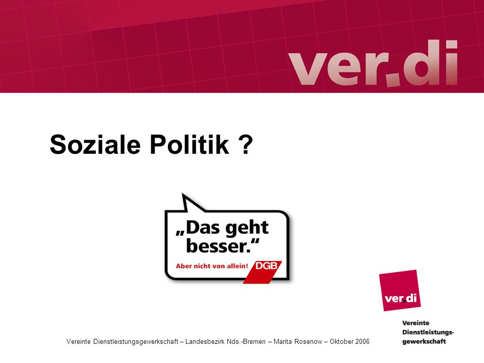 Soziale Politik .