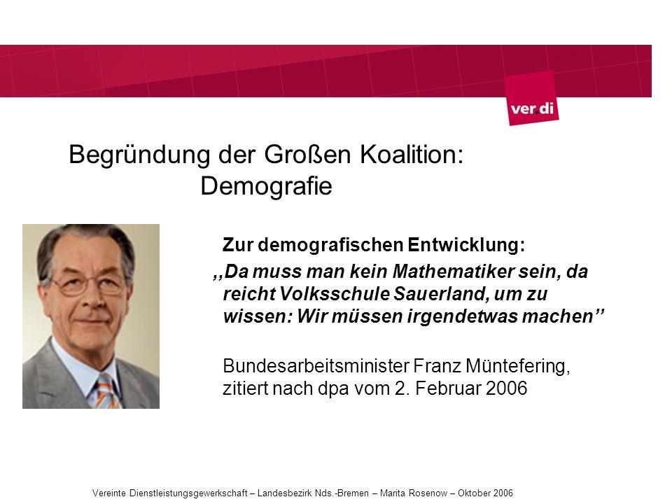 Begründung der Großen Koalition: Demografie