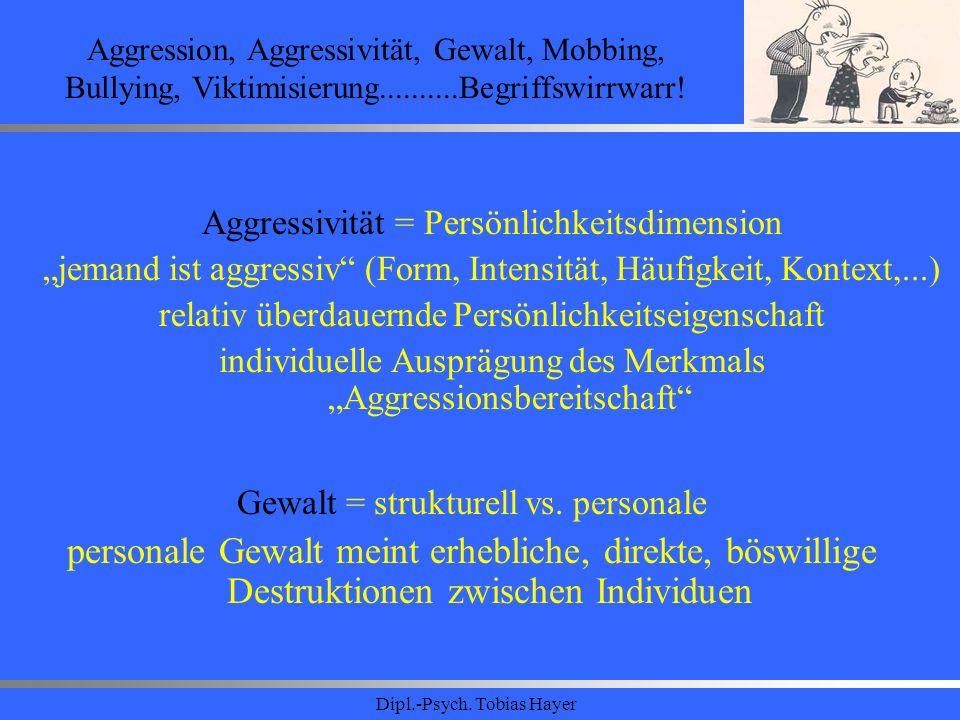 Aggression, Aggressivität, Gewalt, Mobbing, Bullying, Viktimisierung