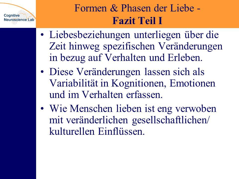 Formen & Phasen der Liebe - Fazit Teil I