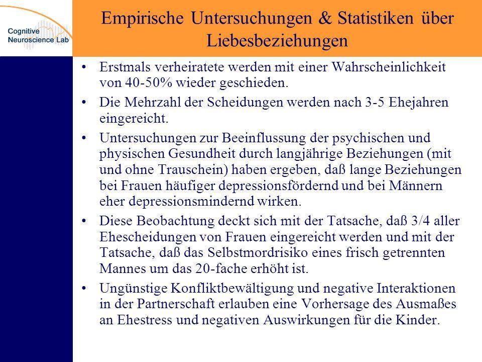 Empirische Untersuchungen & Statistiken über Liebesbeziehungen