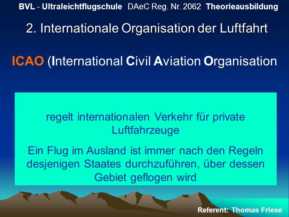 2. Internationale Organisation der Luftfahrt