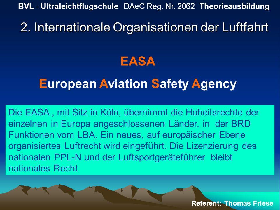 2. Internationale Organisationen der Luftfahrt