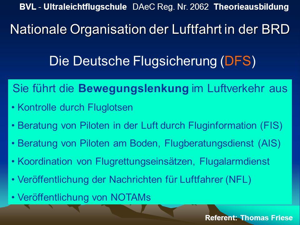Nationale Organisation der Luftfahrt in der BRD