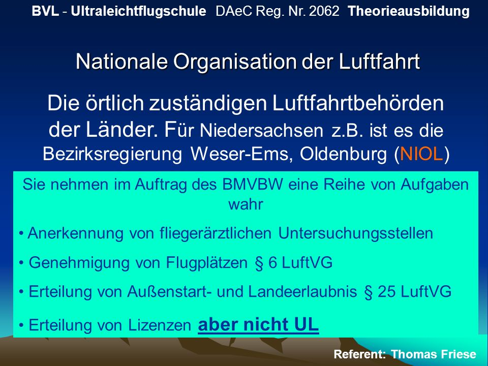 Nationale Organisation der Luftfahrt