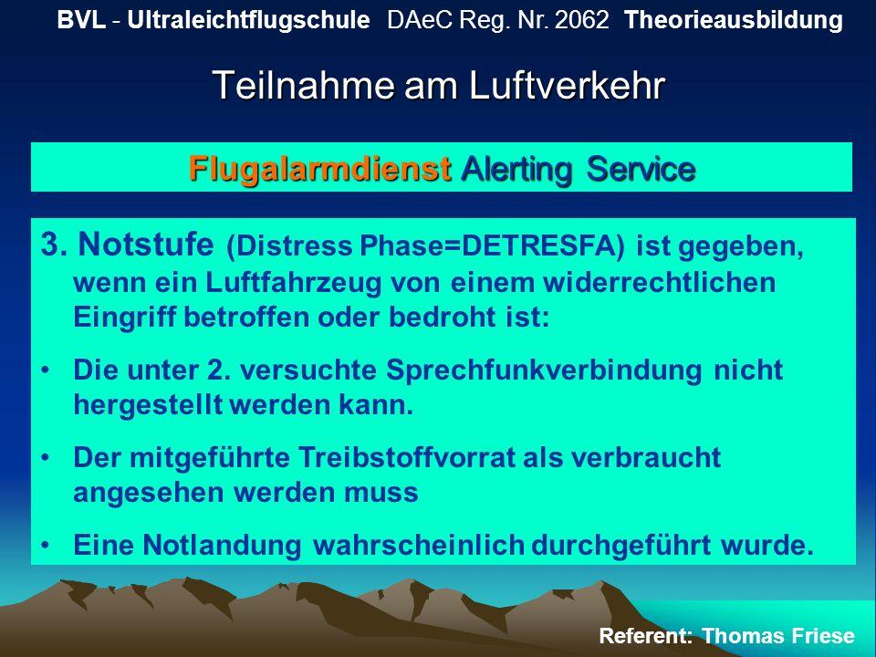 Teilnahme am Luftverkehr