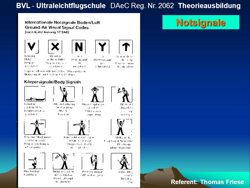 BVL - Ultraleichtflugschule DAeC Reg. Nr. 2062 Theorieausbildung