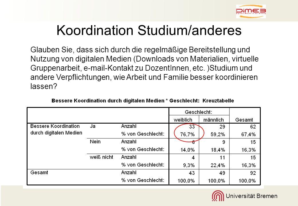 Koordination Studium/anderes
