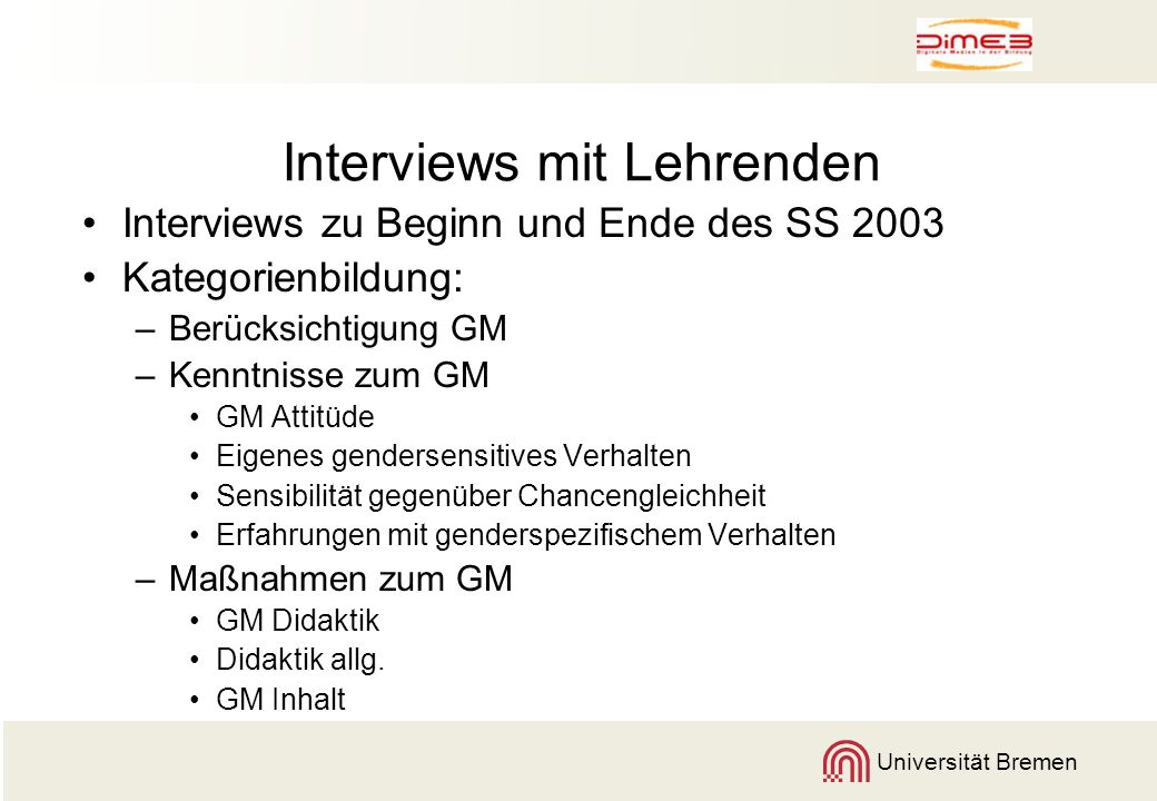 Interviews mit Lehrenden