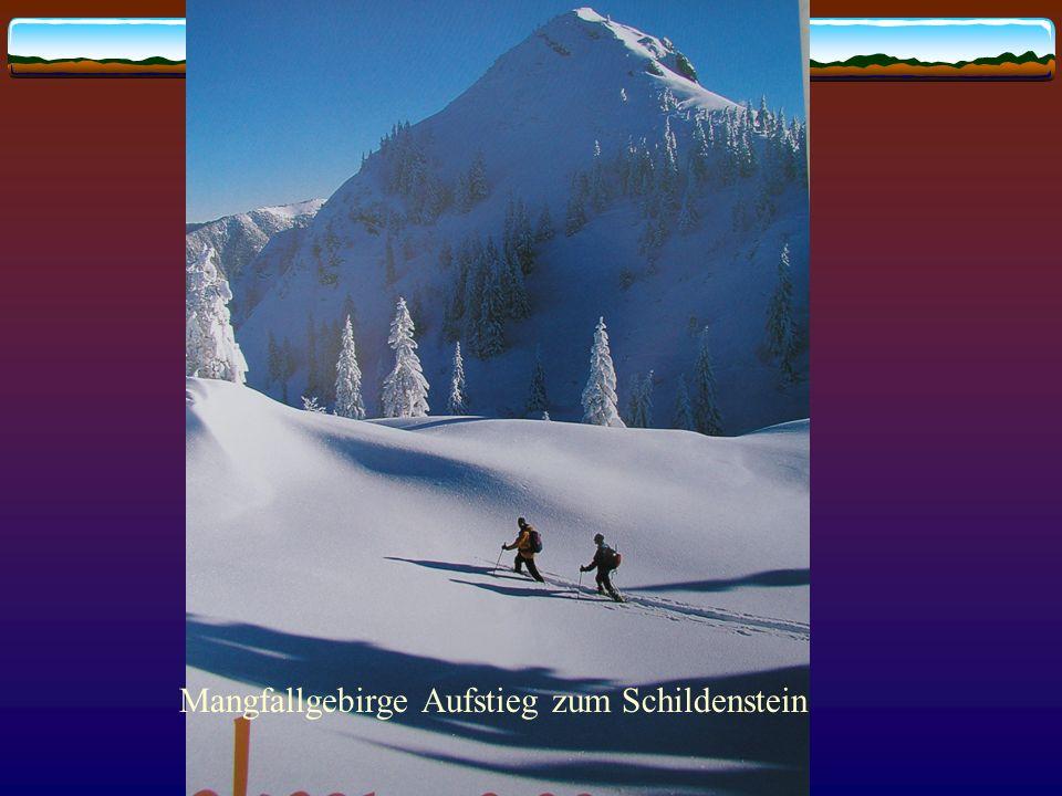 Mangfallgebirge Aufstieg zum Schildenstein