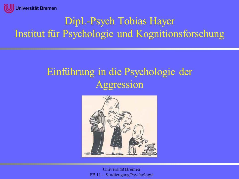 Einführung in die Psychologie der Aggression