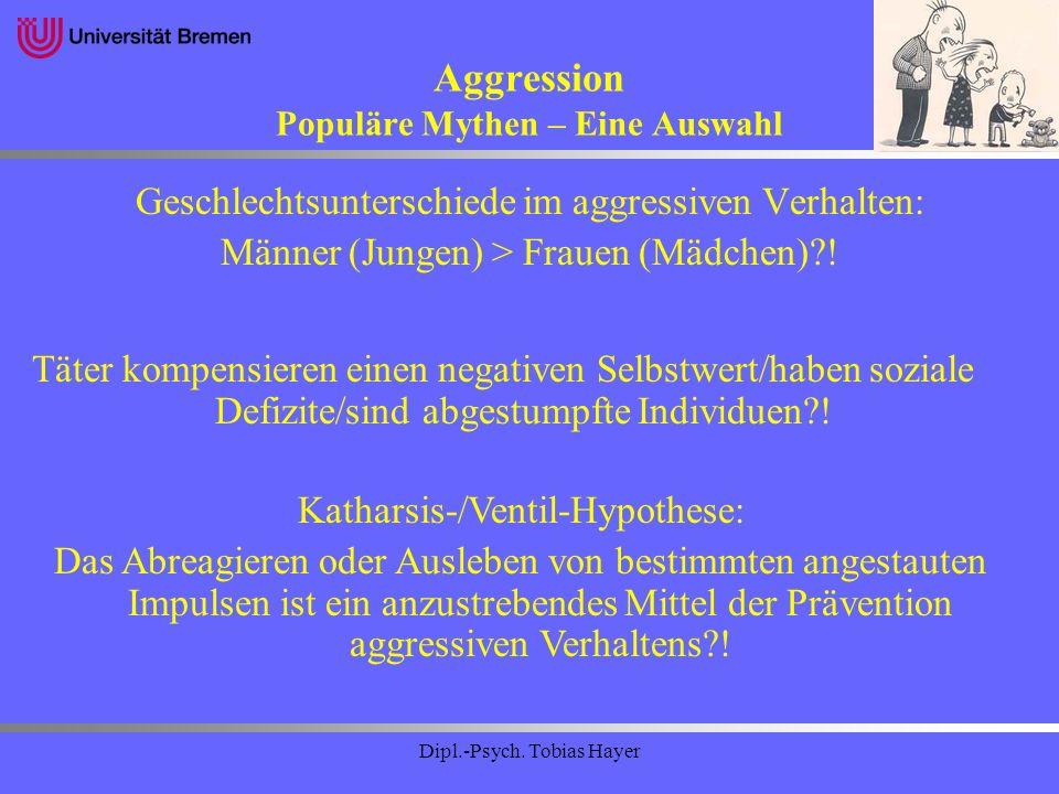 Aggression Populäre Mythen – Eine Auswahl