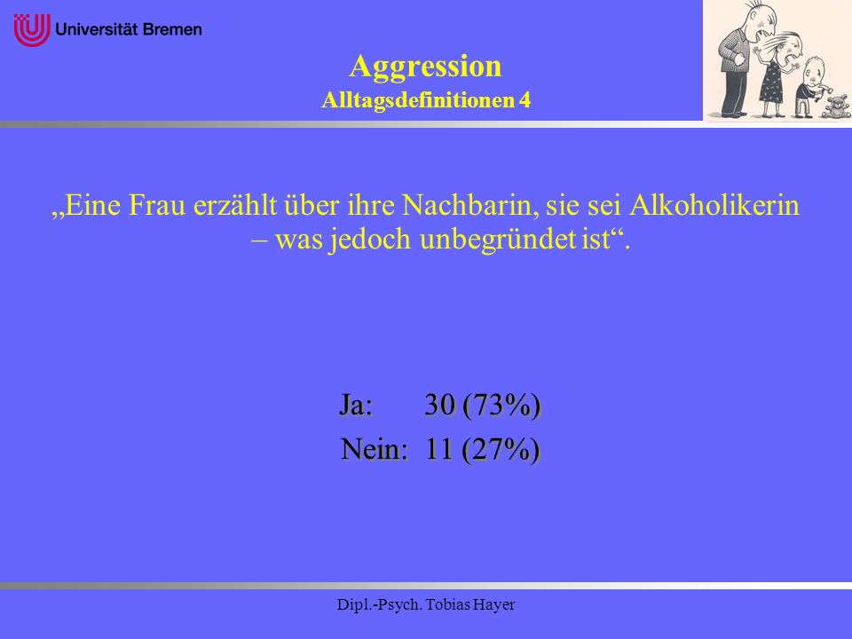 Aggression Alltagsdefinitionen 4