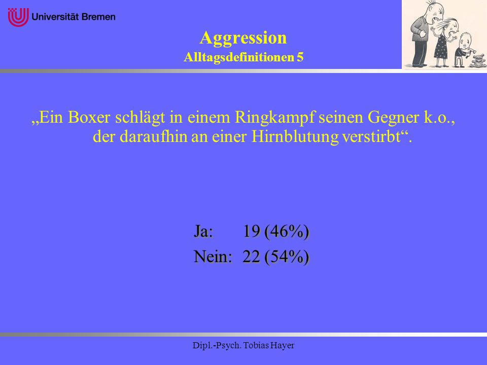 Aggression Alltagsdefinitionen 5