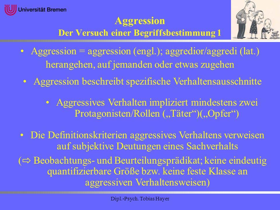 Aggression Der Versuch einer Begriffsbestimmung 1