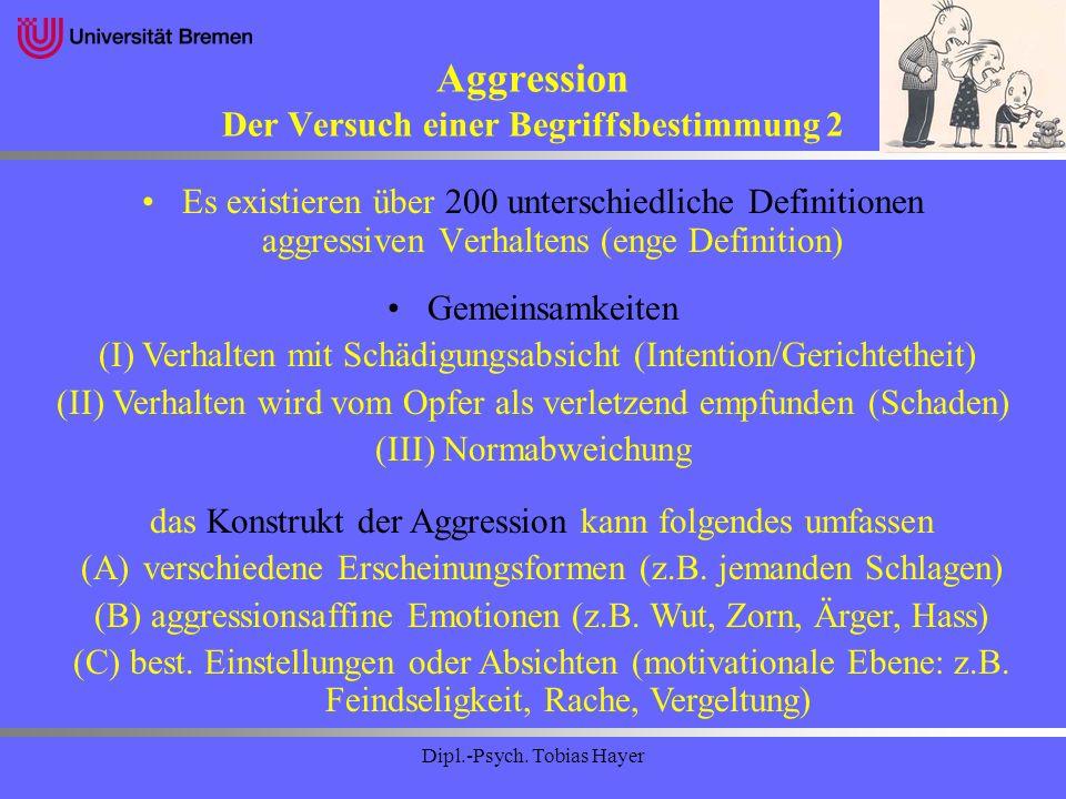 Aggression Der Versuch einer Begriffsbestimmung 2