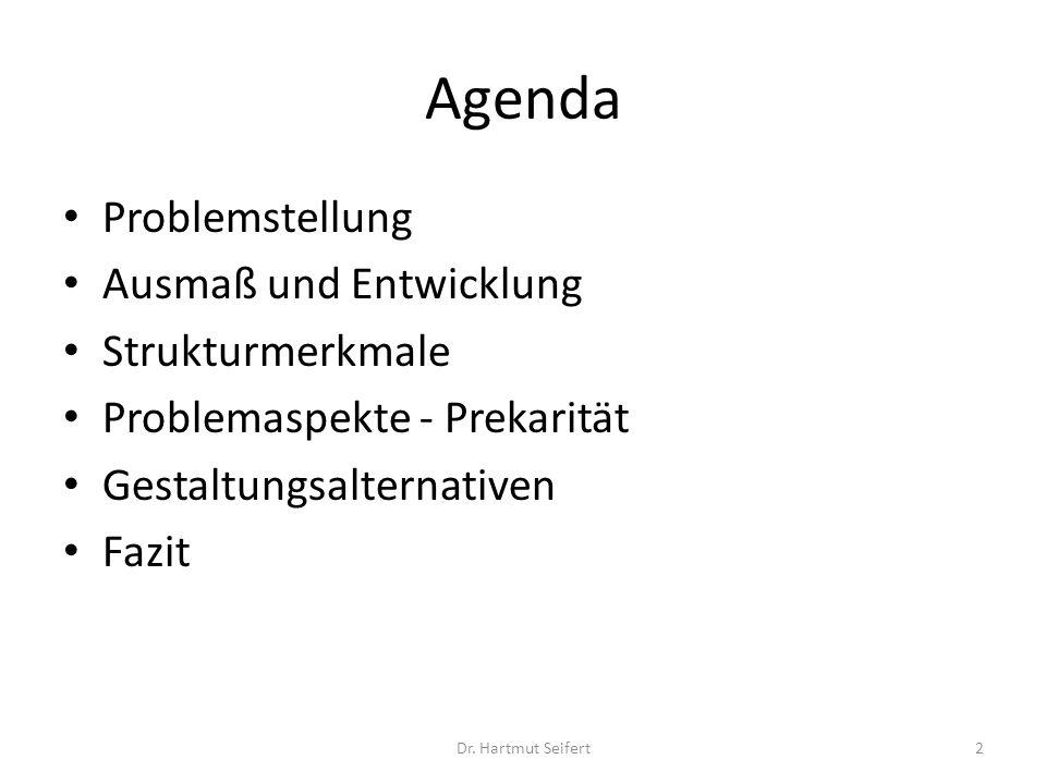 Agenda Problemstellung Ausmaß und Entwicklung Strukturmerkmale