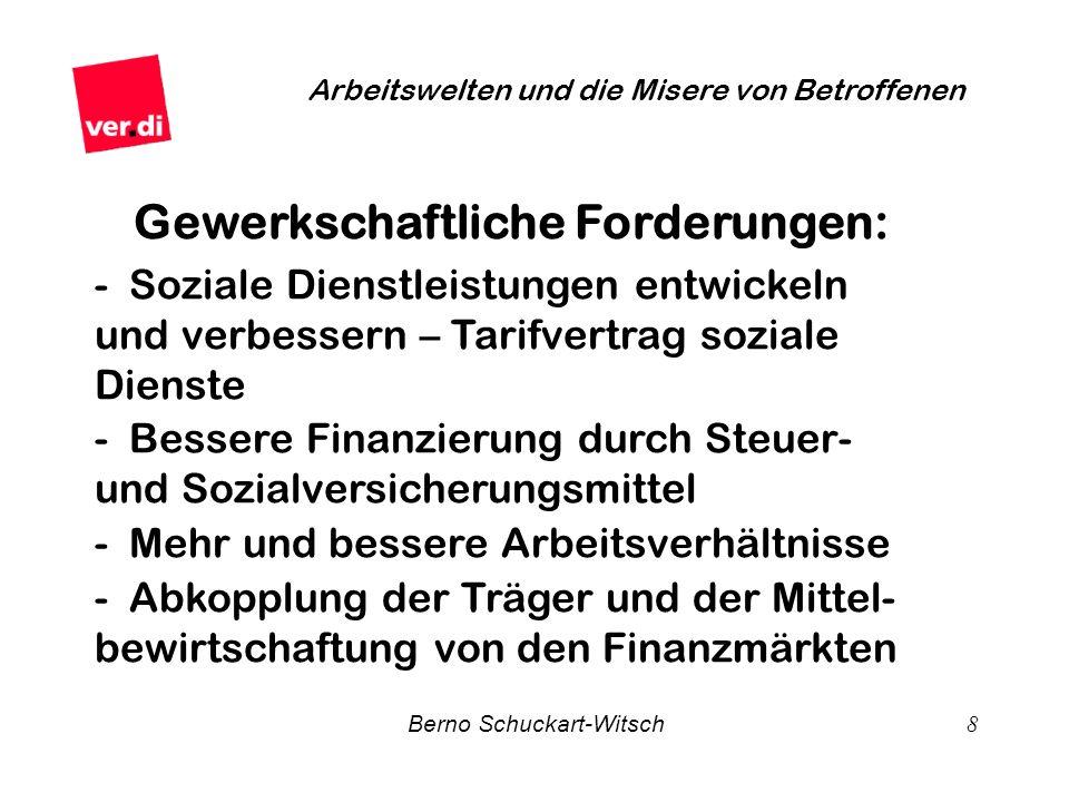 Gewerkschaftliche Forderungen: