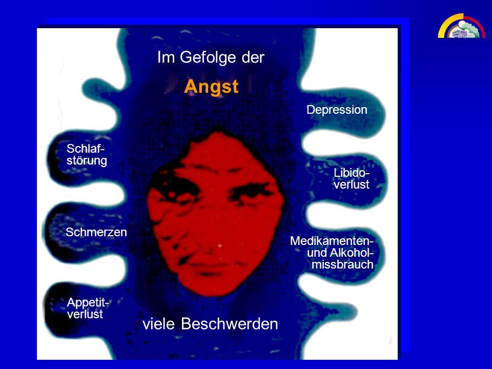 Angst Im Gefolge der viele Beschwerden Depression Schlaf- störung