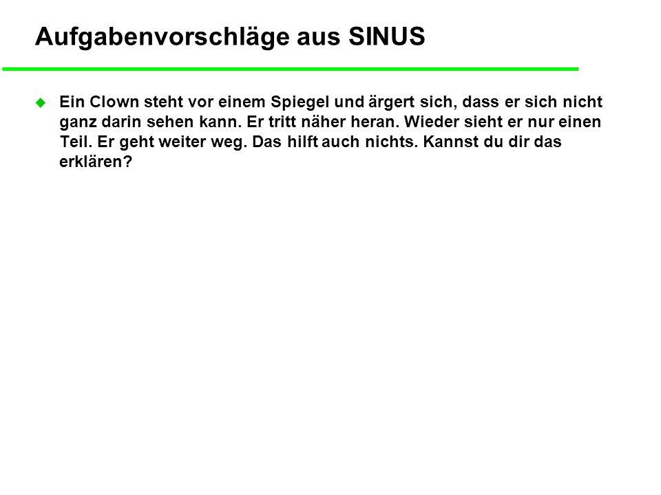 Aufgabenvorschläge aus SINUS
