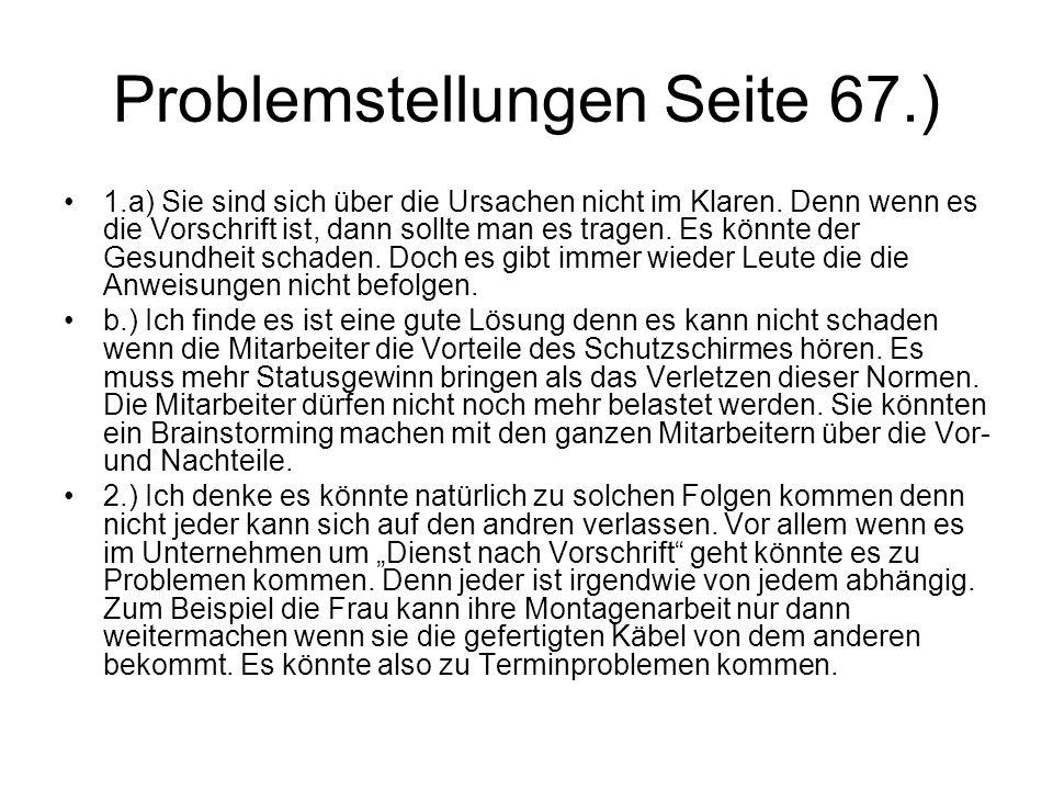 Problemstellungen Seite 67.)