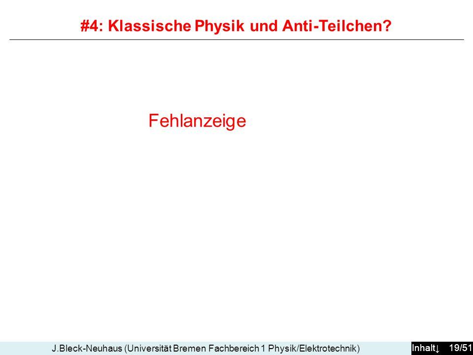 #4: Klassische Physik und Anti-Teilchen