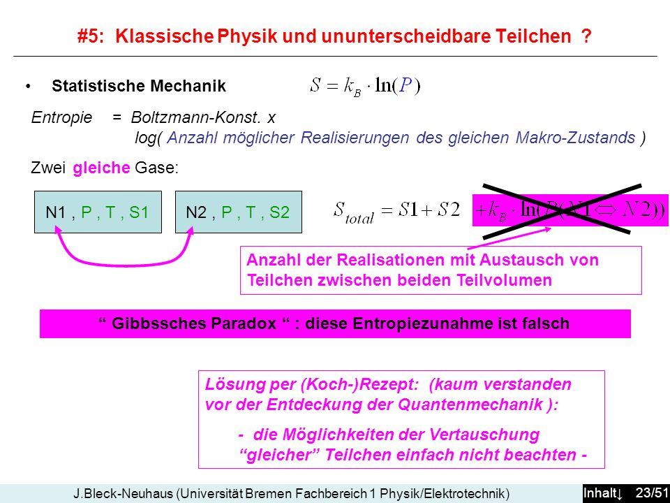 #5: Klassische Physik und ununterscheidbare Teilchen